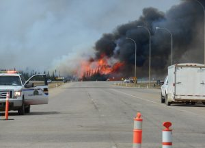 On going fires on May 7 south of Fort McMurray